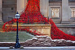 LIVERPOOL UK, DECEMBER 8TH 2015. Weeping Window Poppy Sculpture Royalty Free Stock Photography