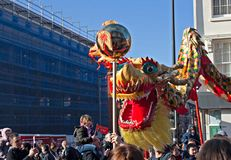 LIVERPOOL, UK, FEBRUARY 2  2014. Street parade to mark Chinese N Stock Photography