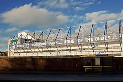 LIVERPOOL UK JANUARI 8TH 2016 Goodison parkerar stadion, hem av Ev Arkivbild