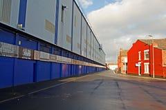 LIVERPOOL UK JANUARI 8TH 2016 Goodison parkerar stadion, hem av Ev Royaltyfri Foto