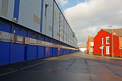 LIVERPOOL UK JANUARY 8TH 2016. Goodison Park Stadium, home of Ev. Erton Football Club. Liverpool UK Royalty Free Stock Photo