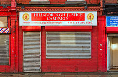 LIVERPOOL UK JANUARY 8TH 2016, The Hillsborough Families Support Royalty Free Stock Photos