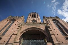 Liverpool, UK ,  June 2014, Liverpool Cathedral, Church of England Cathedral of the Diocese of Liverpool royalty free stock photo