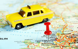 Liverpool UK  map taxi Stock Images