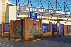 LIVERPOOL UK STYCZEŃ 8TH 2016 Goodison parka stadium, dom Ev obrazy royalty free