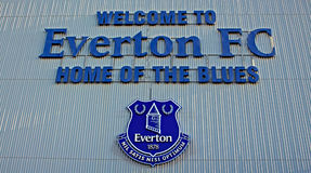 LIVERPOOL UK STYCZEŃ 8TH 2016 Goodison parka stadium, dom Ev Obrazy Stock