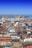 Liverpool, UK. Liverpool, United Kingdom. Aerial view of the city Royalty Free Stock Photography