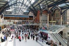Liverpool ulicy stacja Zdjęcia Royalty Free