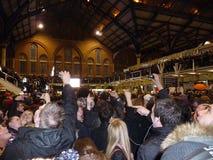 Liverpool Ulicy Stacja Flashmob Obrazy Royalty Free