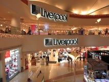 Liverpool varuhus under jul Arkivfoto