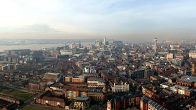 Liverpool. A view over Liverpool and the docks from the Cathedral royalty free stock images