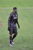 Liverpool vs Sion. SION, SWITZERLAND - DECEMBER 10: Divock Origi attacker for Liverpool in the Europa League Cup, December 10, 2015 in Sion, Switzerland royalty free stock photo