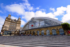 Liverpool wapna ulicy stacja kolejowa zdjęcia royalty free