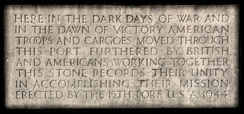 Liverpool War Plaque Royalty Free Stock Image