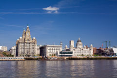Liverpool waterfront Royalty Free Stock Images