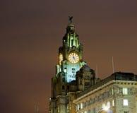 Liverpools historiska strandbyggnader Royaltyfri Fotografi
