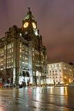 Liverpools historiska strandbyggnader Royaltyfri Bild