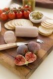 Liverwurst и смоквы Стоковое Изображение RF