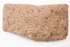 Liverwurst cut on a white background Royalty Free Stock Image