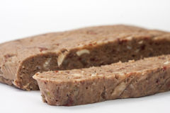 Liverwurst cut on a white background Stock Image