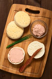 Liverwurst Spread on Bun Stock Images