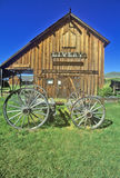 Livery barn in the Ghost Town near Virginia City, MT Royalty Free Stock Photo
