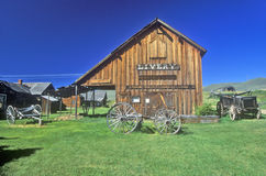 Livery barn in the Ghost Town near Virginia City, MT Stock Photo