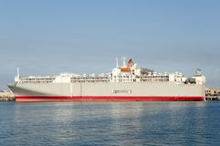 Livestock Carrier Shipping Vessel - Australia Royalty Free Stock Photography