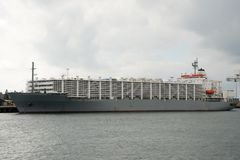 Livestock Carrier Shipping Vessel. Fremantle - Australia Royalty Free Stock Photography