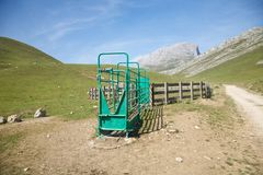 Livestock enclosure in Cantabrian valley Royalty Free Stock Image