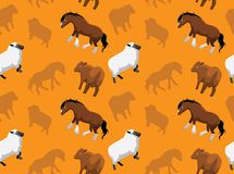 Livestock Farm Animals Seamless Wallpaper 13. Animal Wallpaper EPS10 File Format Royalty Free Stock Image