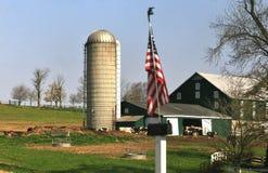 Livestock feeding silo and barn Royalty Free Stock Image