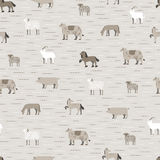 Livestock pattern coffee color Stock Photo