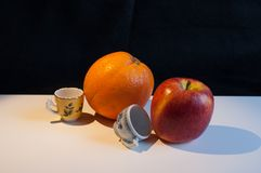 Livet av äpplet Arkivfoto