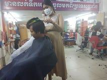 Livet av Pregnance Cambodja royaltyfri bild