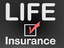 Livförsäkringgodkännandebegrepp Arkivfoto