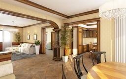 Livig klasyczny Pokój Obraz Stock