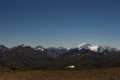 Livigno βουνού με το χιόνι Στοκ φωτογραφίες με δικαίωμα ελεύθερης χρήσης