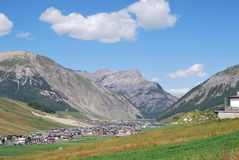 Livigno. Lake northern Italy Lombardy in the Sondrio Country Royalty Free Stock Photos