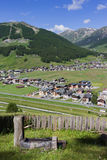 Livigno from above vertical Stock Photos