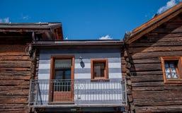 Livigno flowered balcony Royalty Free Stock Photography
