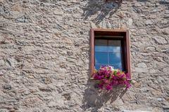 Livigno flowered balcony Stock Photos
