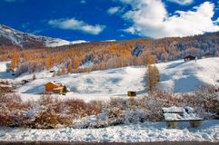 Livigno im Winter lizenzfreie stockfotos