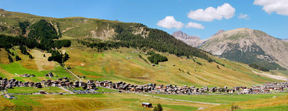 Livigno. Near the swiss border Stock Photography