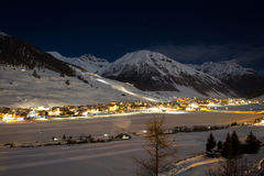 Livigno by night Royalty Free Stock Photos