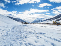 Livigno valley Royalty Free Stock Images