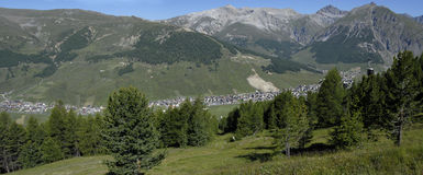 Livigno view Stock Images