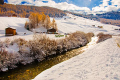 Livigno in winter Stock Photography