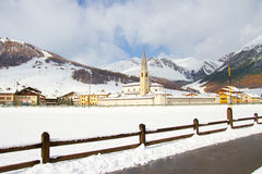 Livigno in winter Stock Images