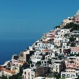 Livin' on the next level. Buildings constructed on hillside, Amalfi, Italy Stock Photography